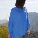 poncho en cachemire bleu azur sajani.fr