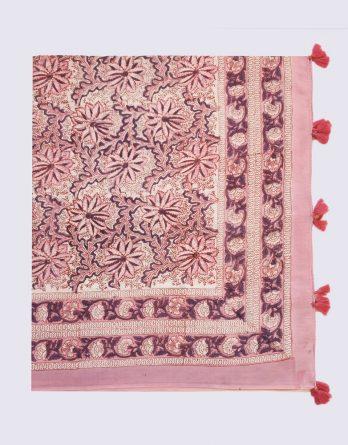 Paréo Fleurs roses & mauves