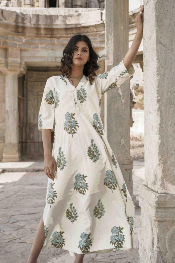 Robe longue Jardin Moghol