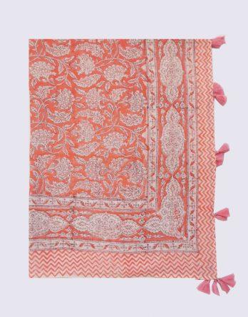 paréo imprimé fleurs roses